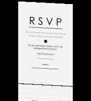 rsvp kaart Chique RSVP kaart