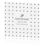 Save the Date kaart met foto en klassiek ontwerp