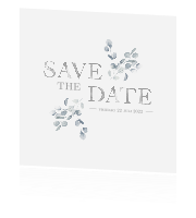 Fine Art Save the Date met blaadjes