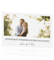 Stijlvolle Save the Date met foto en allure