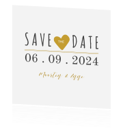 Save the Date met hartje en foto
