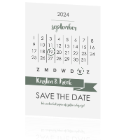 Hippe Save the Date kaart met kalender