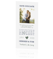 Save the Date kaart met kalender en foto