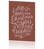Save the Date kerstkaart met leuke quote