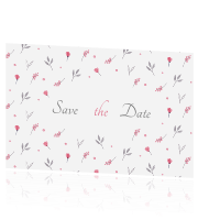 Save the Date met bloemenpatroon