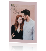 Save the Date met moderne look en foto