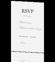 rsvp kaart Stijlvolle RSVP kaart met klassieke uitstraling