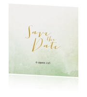 Trendy Save the Date kaart met watercolour achtergrond