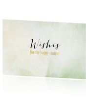 Watercolour Happy Wishes Card met groene kleur