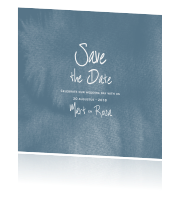 Save the Date met watercolor bloemen en blaadjes