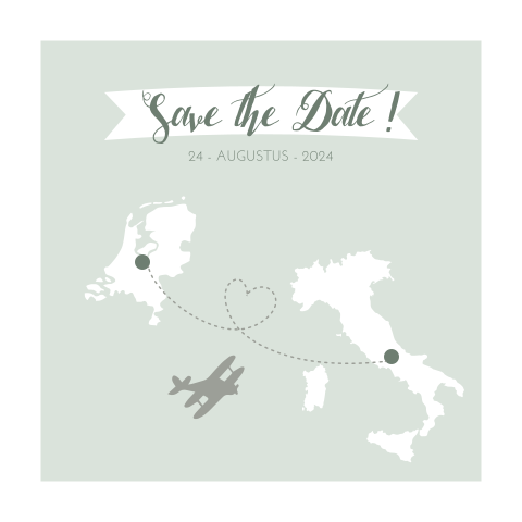 Save the Date voor bruiloft in Italie