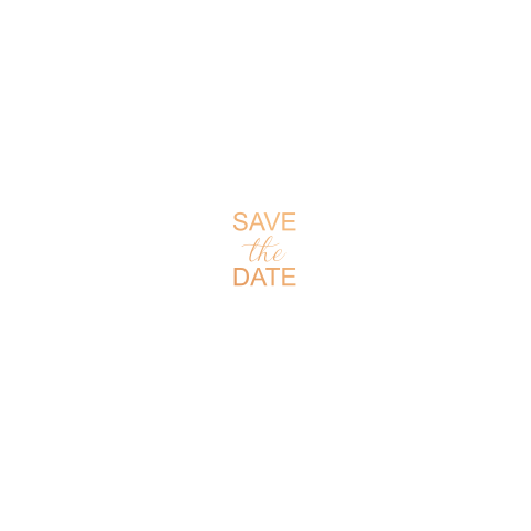 Strak en moderne Save the Date met koperfolie