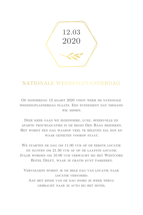 Nationale-weddingplannerdag