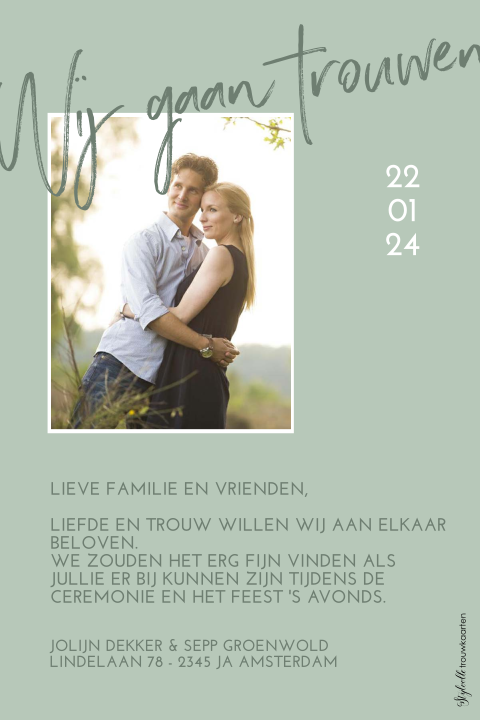 Save the date: modern en met foto