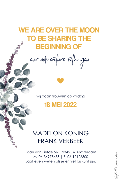 Trendy Save the Date met takjes