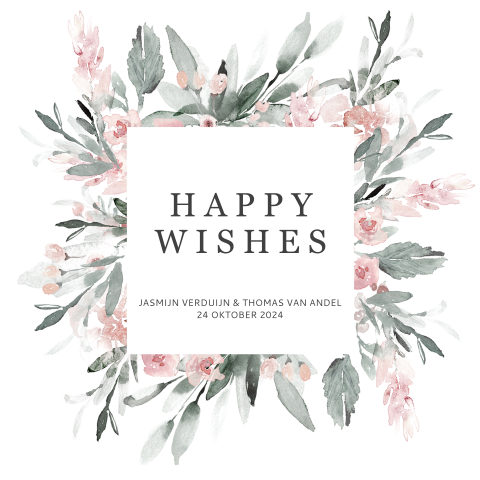 Happy Wishes Card met bloemetjes