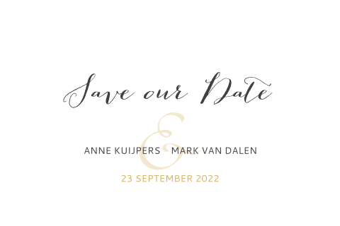 Sophisticated Save the Date kaart