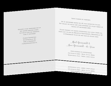 Uitnodiging 40 Jaar Huwelijk Tekst