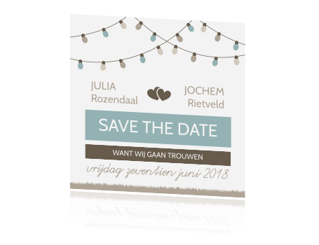 Ideale Save the Date kaart voor jouw festival wedding