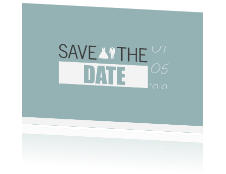 Trendy en moderne Save the Date kaart
