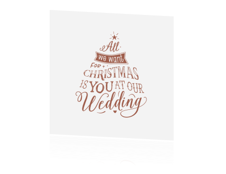 Kerst Save the Date kaart met quote in trend kleur