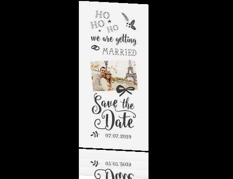 Trendy Save The Date Kerstkaart Met Grappige Tekst