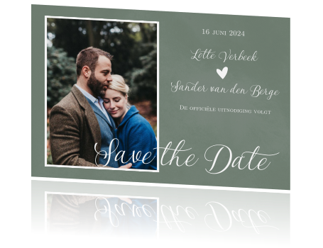 Save the Date kaart met foto