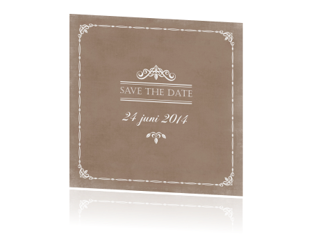 Een trendy Save the Date kaart om snel te versturen!