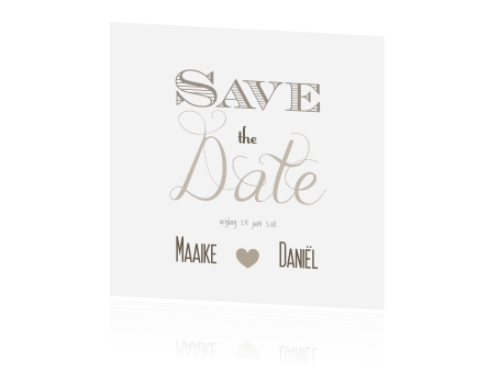 Trendy ontwerp originele Save the Date kaart